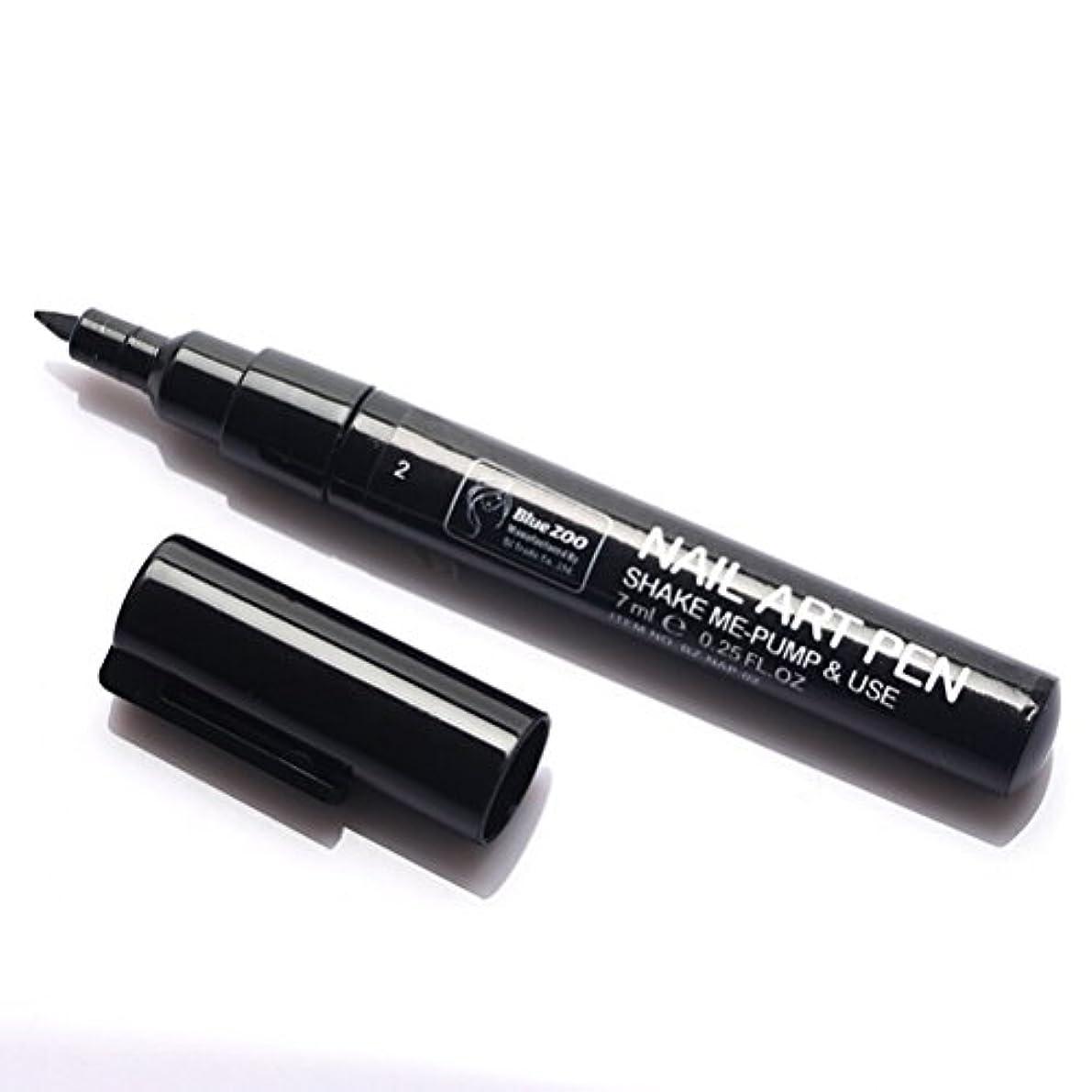 山積みの全員キネマティクス(メイクアップエーシーシー) MakeupAcc カラーネイルアートペン 3Dネイルペン ネイルアートペン ネイルマニキュア液 ペイントペン ペイント 両用 DIY 16色 (黒い) [並行輸入品]