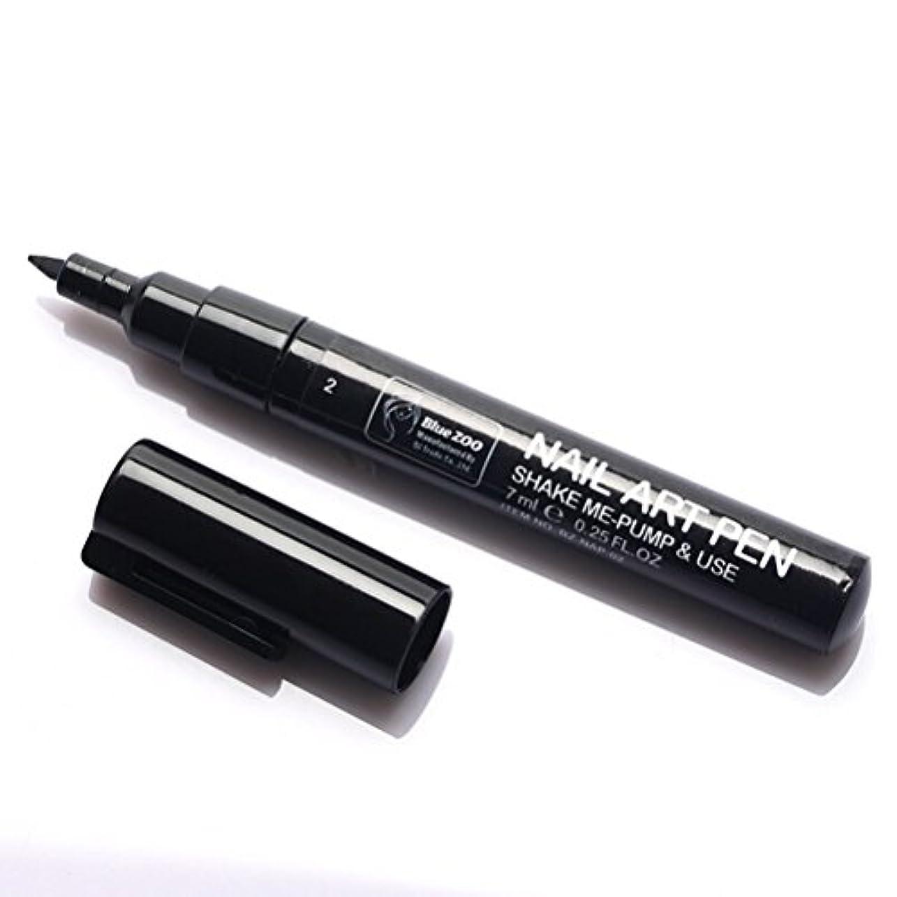 破壊するのために狐(メイクアップエーシーシー) MakeupAcc カラーネイルアートペン 3Dネイルペン ネイルアートペン ネイルマニキュア液 ペイントペン ペイント 両用 DIY 16色 (黒い) [並行輸入品]
