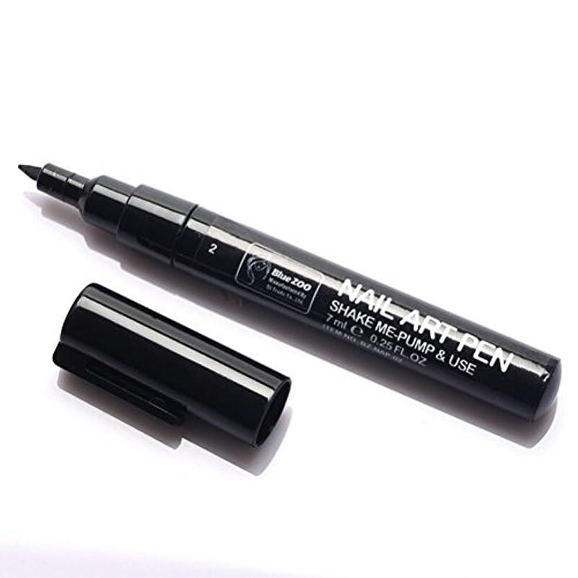 考えたエジプト憲法(メイクアップエーシーシー) MakeupAcc カラーネイルアートペン 3Dネイルペン ネイルアートペン ネイルマニキュア液 ペイントペン ペイント 両用 DIY 16色 (黒い) [並行輸入品]