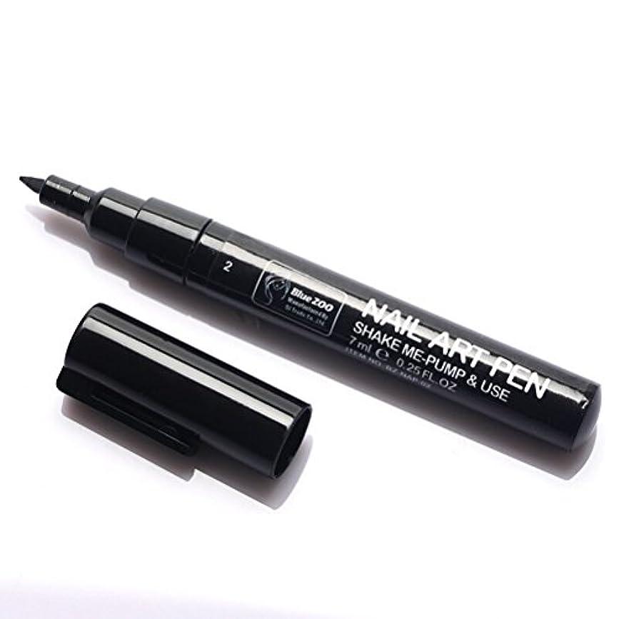 (メイクアップエーシーシー) MakeupAcc カラーネイルアートペン 3Dネイルペン ネイルアートペン ネイルマニキュア液 ペイントペン ペイント 両用 DIY 16色 (黒い) [並行輸入品]