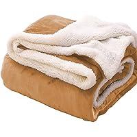毛布 シングル 2枚合わせ フランネル マイクロファイバー 吸湿発熱 静電防止 柔らかい 選べる4色(ベージュ, シングル-140×200cm)