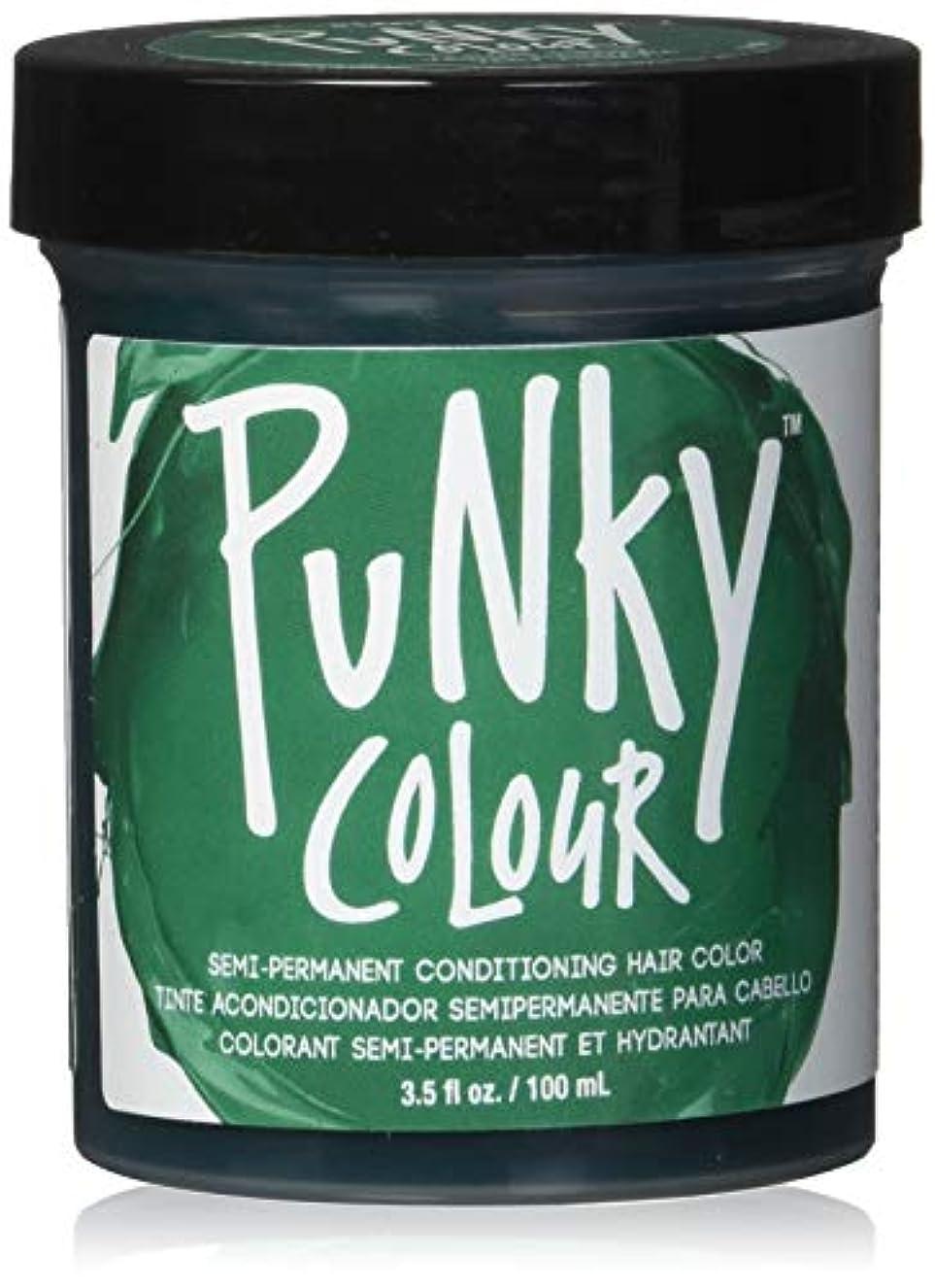 浴室未使用因子JEROME RUSSELL Punky Color Semi-Permanent Conditioning Hair Color - Alpine Green (並行輸入品)