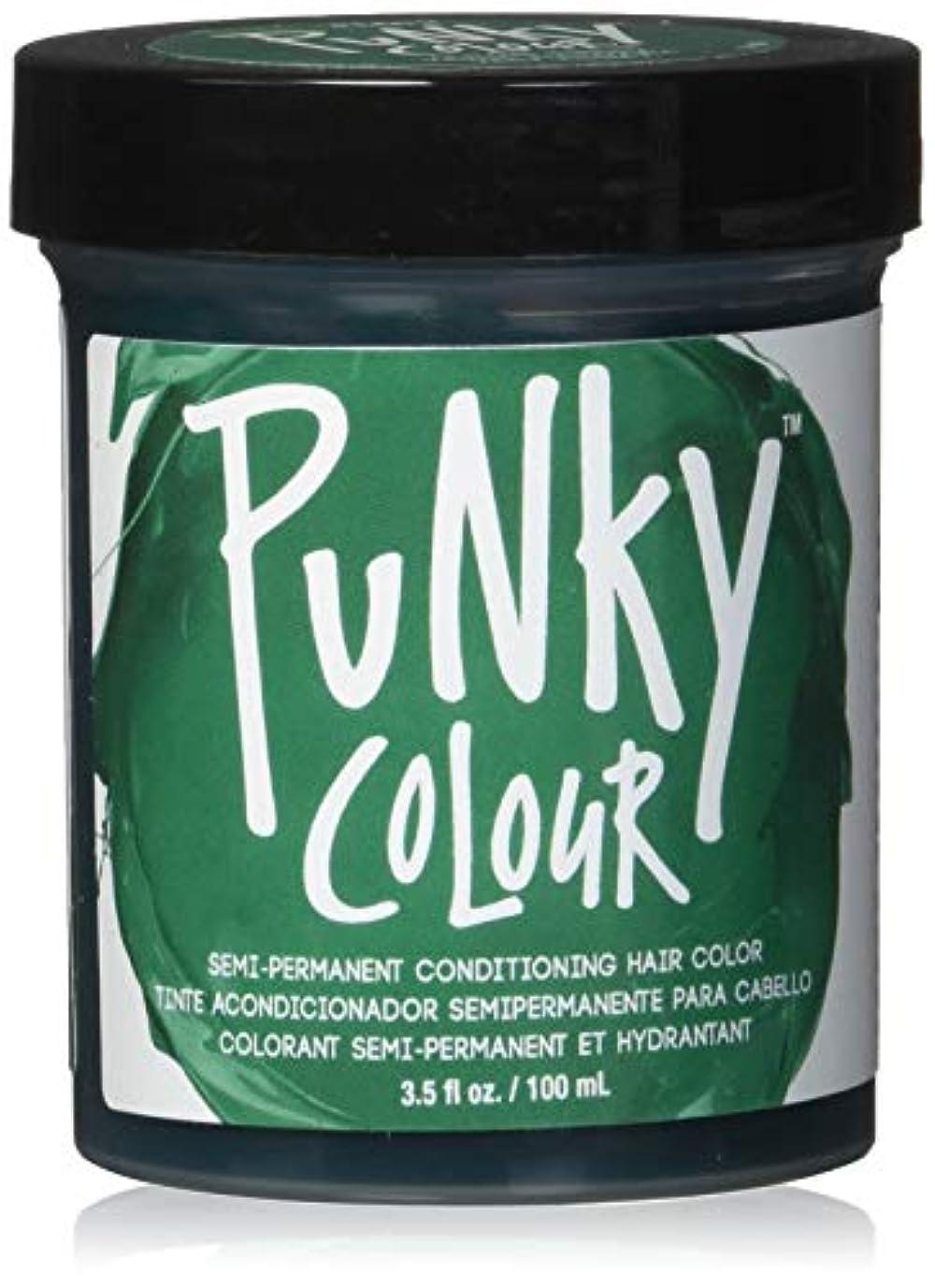 手数料スクリーチ抜け目がないJEROME RUSSELL Punky Color Semi-Permanent Conditioning Hair Color - Alpine Green (並行輸入品)