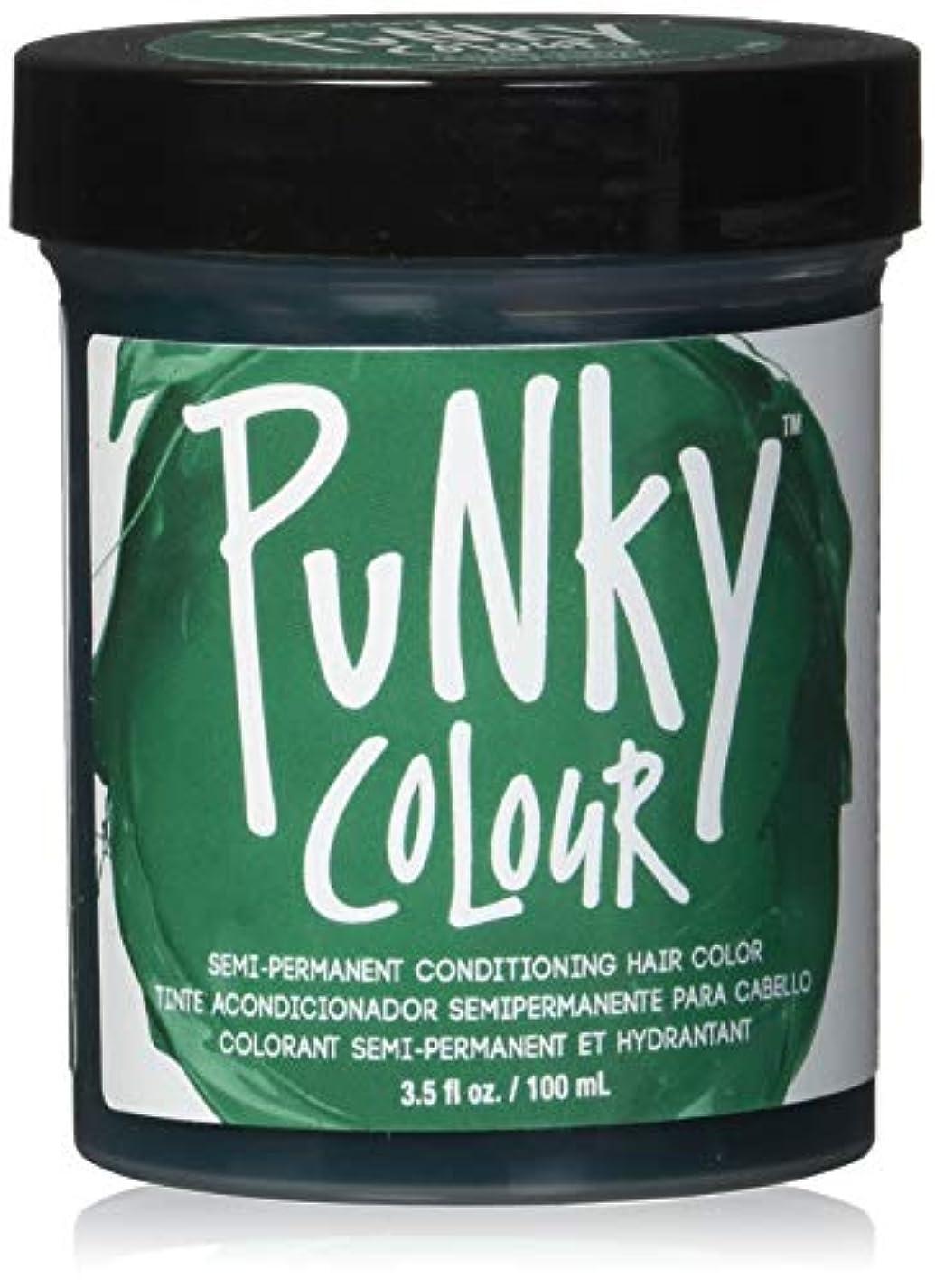 エレベーターごちそう乳白JEROME RUSSELL Punky Color Semi-Permanent Conditioning Hair Color - Alpine Green (並行輸入品)