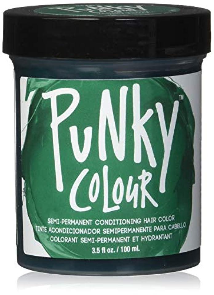 交通きらきら証明JEROME RUSSELL Punky Color Semi-Permanent Conditioning Hair Color - Alpine Green (並行輸入品)