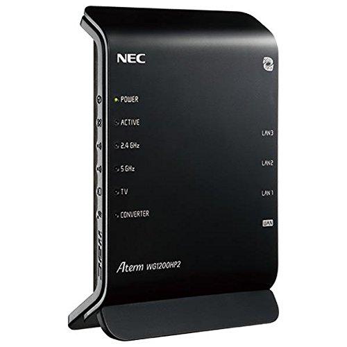 NEC Wi-Fiホームルータ Aterm 黒 PA-WG1200HP2