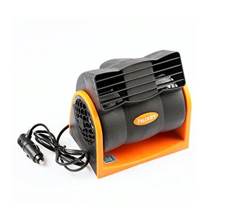 Minsell 車用 24V 車載用 冷風器 エコ ファン シガー電源 角度 調節 風量...