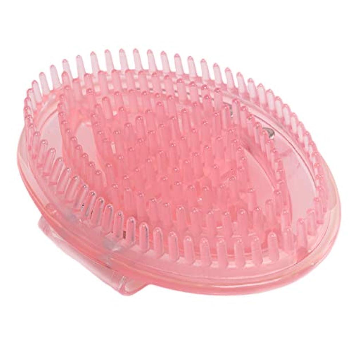 はっきりしない用語集ペニーマッサージブラシ ボディ セルライト ハンドタイプ 頭皮マッサージャー メリディアンマッサージ 全5色 - ピンク