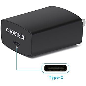 USB Type Cチャージャー CHOETECH 5V/3A 15W 急速充電器 1ポート 電源アダプタ/変換ACアダプタ 壁の充電器 Lumia 950xl/950, Nexus 5x/6p, HTC 10 及び他の Type-C機器に対応