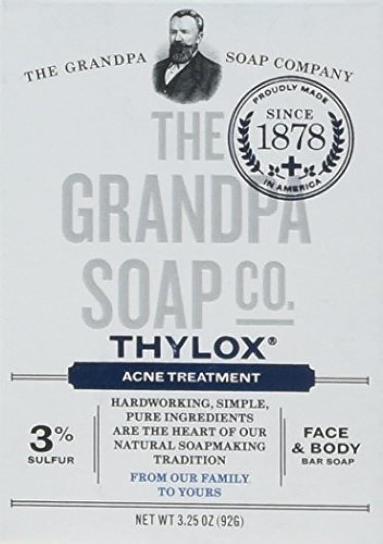イソギンチャク変なカトリック教徒The Grandpa Soap Company おじいちゃんのSOAP、THYLOXにきびTRTMNT、3.25 OZ、6パック