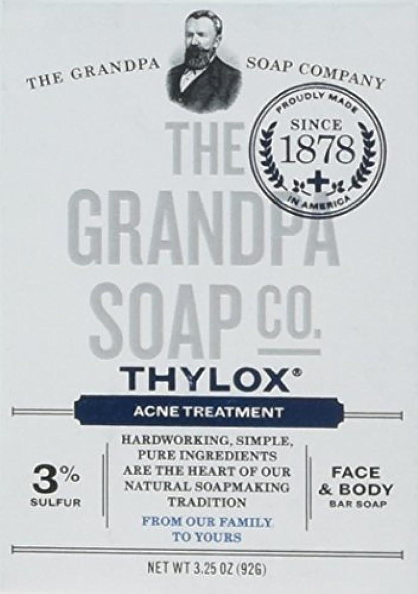 たるみ野望露骨なThe Grandpa Soap Company おじいちゃんのSOAP、THYLOXにきびTRTMNT、3.25 OZ、6パック