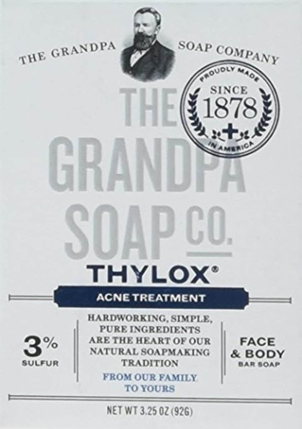貧しいエスカレート概してThe Grandpa Soap Company おじいちゃんのSOAP、THYLOXにきびTRTMNT、3.25 OZ、6パック