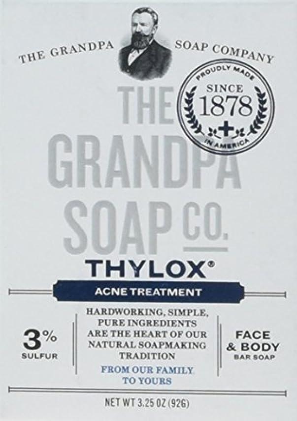 抜け目がない飼料不合格The Grandpa Soap Company おじいちゃんのSOAP、THYLOXにきびTRTMNT、3.25 OZ、6パック