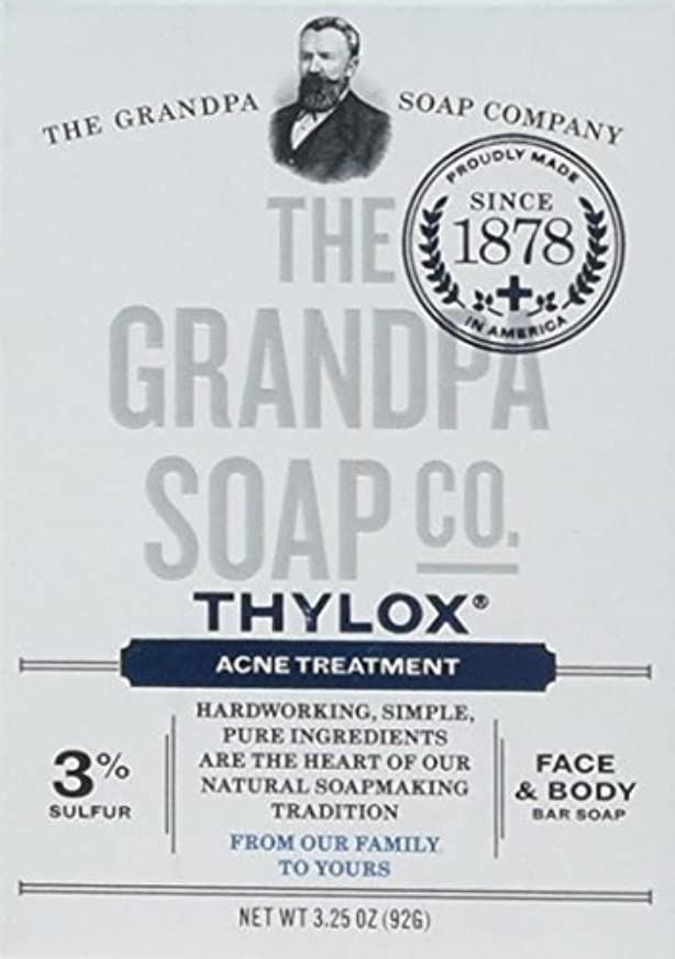笑あごひげ有害なThe Grandpa Soap Company おじいちゃんのSOAP、THYLOXにきびTRTMNT、3.25 OZ、6パック