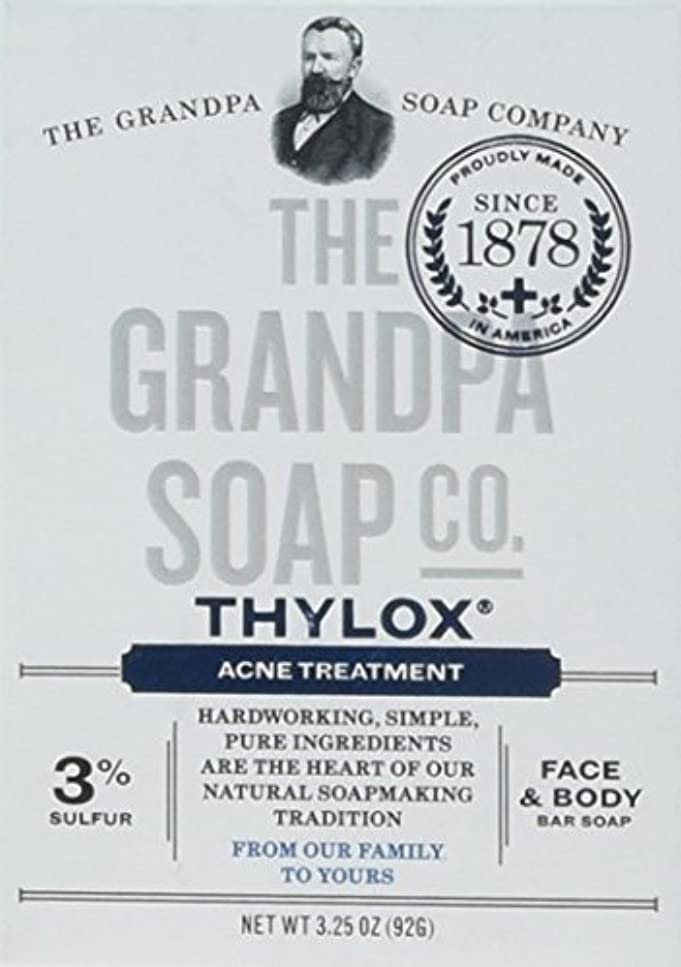いたずらなマウントバンク賢明なThe Grandpa Soap Company おじいちゃんのSOAP、THYLOXにきびTRTMNT、3.25 OZ、6パック