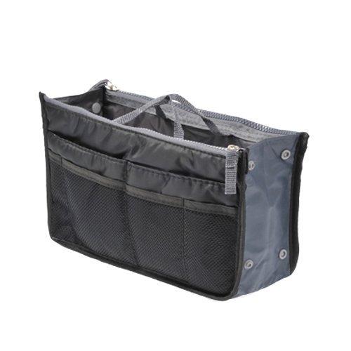 K-Market 高品質 【システムバッグインバッグ(男女兼用)10カラー】 お財布・携帯などの必需品から手帳やペンもピッタリサイズ! 【ブラック】