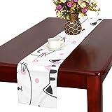 GGSXD テーブルランナー 親しい白い猫 クロス 食卓カバー 麻綿製 欧米 おしゃれ 16 Inch X 72 Inch (40cm X 182cm) キッチン ダイニング ホーム デコレーション モダン リビング 洗える