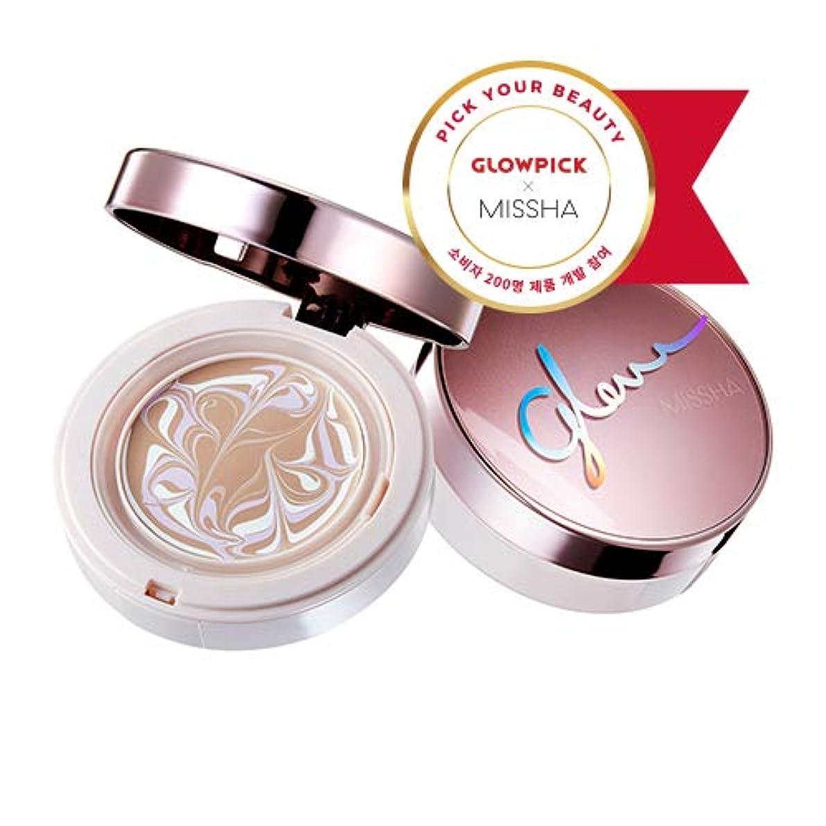 可能性粘土乳製品ミシャ グロー アンプルパクト MISSHA Glow Ampoule Pact SPF50+/PA+++ #Vanilla (No.21) [並行輸入品]