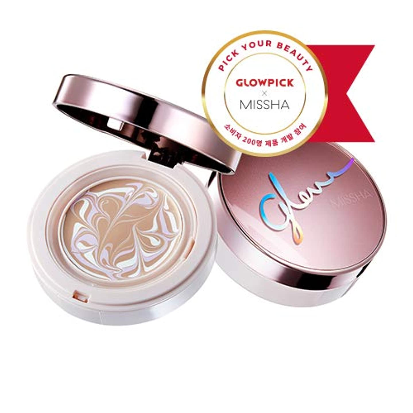 ウィザード鬼ごっこながらミシャ グロー アンプルパクト MISSHA Glow Ampoule Pact SPF50+/PA+++ #Vanilla (No.21) [並行輸入品]