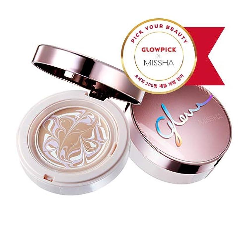 精神試験キャンペーンミシャ グロー アンプルパクト MISSHA Glow Ampoule Pact SPF50+/PA+++ #Vanilla (No.21) [並行輸入品]