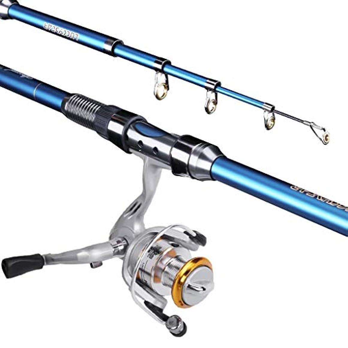 信号慢な複合伸縮式釣り竿とリールの組み合わせカーボンウルトラライトシーロッド格納式ポケットペン釣り竿セット