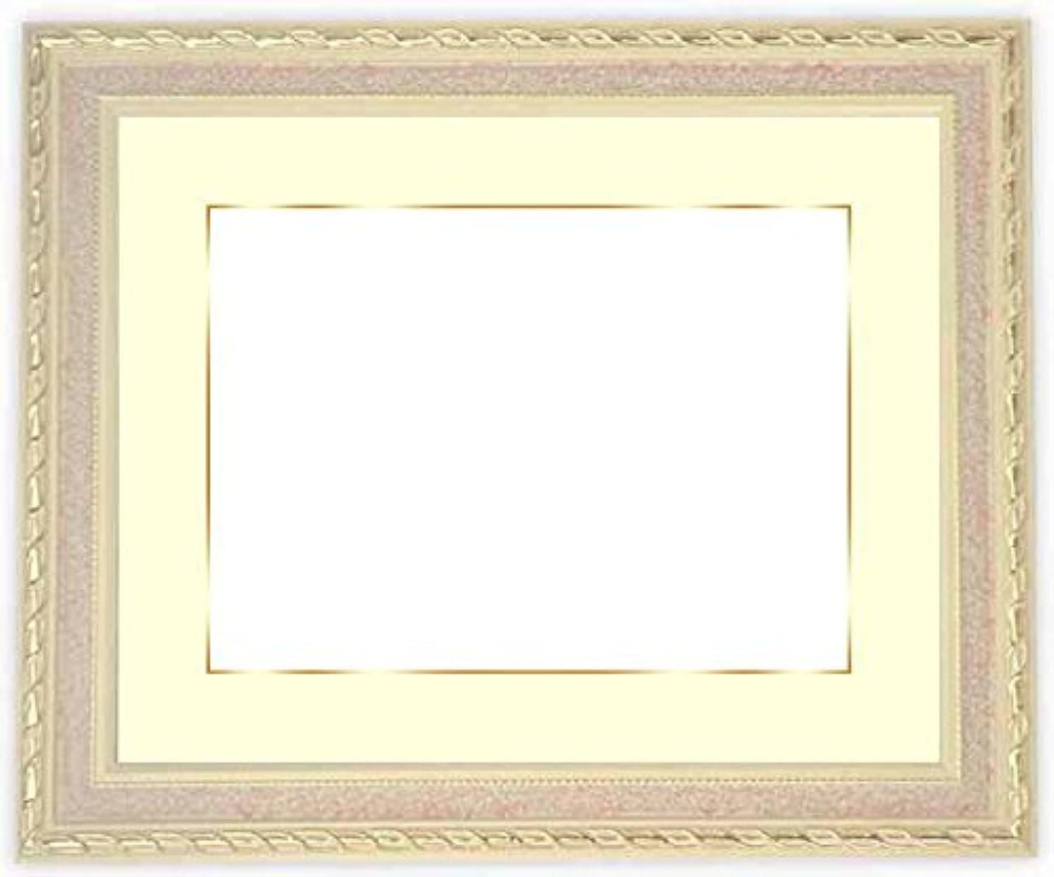 飛行機蒸落胆する写真用額縁 5663/ピンク A4(297×210mm) ガラス マット付(金色細縁付き) 写真/5663/ピンク マット色:黒