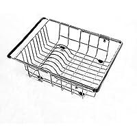 排水ラックシンクキッチン収納ラック伸縮式ステンレススチール洗面器 (サイズ さいず : L l)