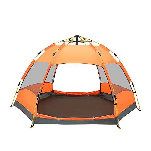 QZT テントワンタッチ 3~4人用 ドームテント折りたたみ 簡易テント 軽...