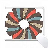 ブラウン、オレンジ、ブルースワールレトロデザイン PC Mouse Pad パソコン マウスパッド