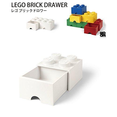 ≪特典付き≫ レゴ 収納ボックス 引き出しタイプ ブリック ドロワー 4 LEGO Brick Drawer 4 (ホワイト)