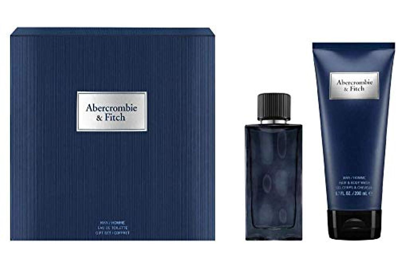 準備する東我慢するアバクロンビー&フィッチ First Instinct Blue Coffret: Eau De Toilette Spray 50ml/1.7oz + Hair & Body Wash 200ml/6.7oz 2pcs...