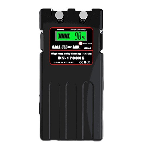@NSS ダイワ シマノ 電動リール用 DN-1700NS スーパーリチウム 互換バッテリー 充電器 セット 14.8V 10400mAh 大容量 パナソニックセル搭載 (ブラック)