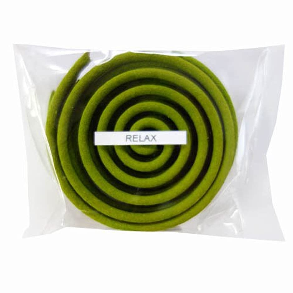リボンゴシップオークションお香/うずまき香 RELAX リラックス 直径6.5cm×5巻セット [並行輸入品]