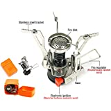 Mini Camp Stove Burner Canister Outdoor Portable Foldable Pocket Stove for Backpacking Camping Hiking