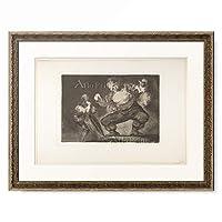 """フランシスコ・デ・ゴヤ Francisco Jose de Goya y Lucientes 「Plate 4 from the""""Disparates"""" : Simpleton, ca. 1811–1828」 額装アート作品"""
