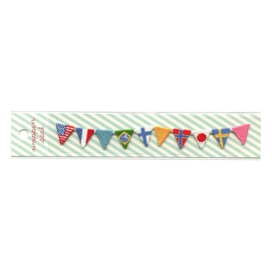 呼びかける面倒クラックポットリュリュ 刺繍ワッペンシール 国旗 SWS−12