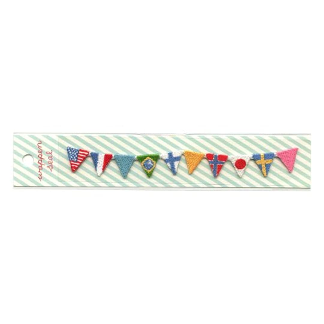 シアー玉チェリーリュリュ 刺繍ワッペンシール 国旗 SWS−12