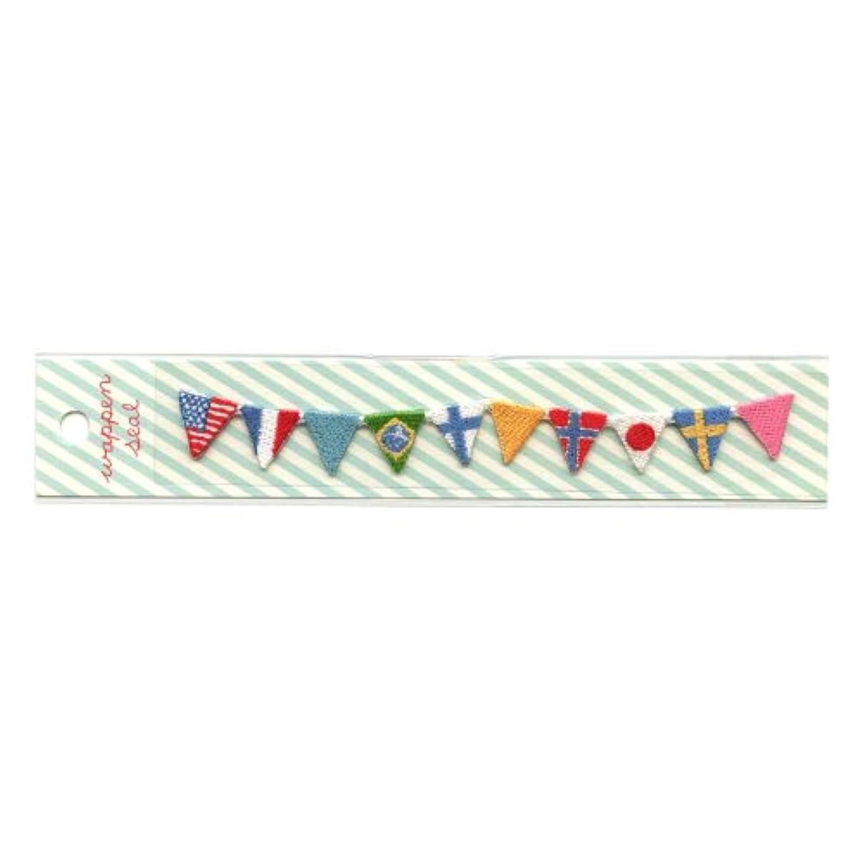 ビヨン海岸追うリュリュ 刺繍ワッペンシール 国旗 SWS−12