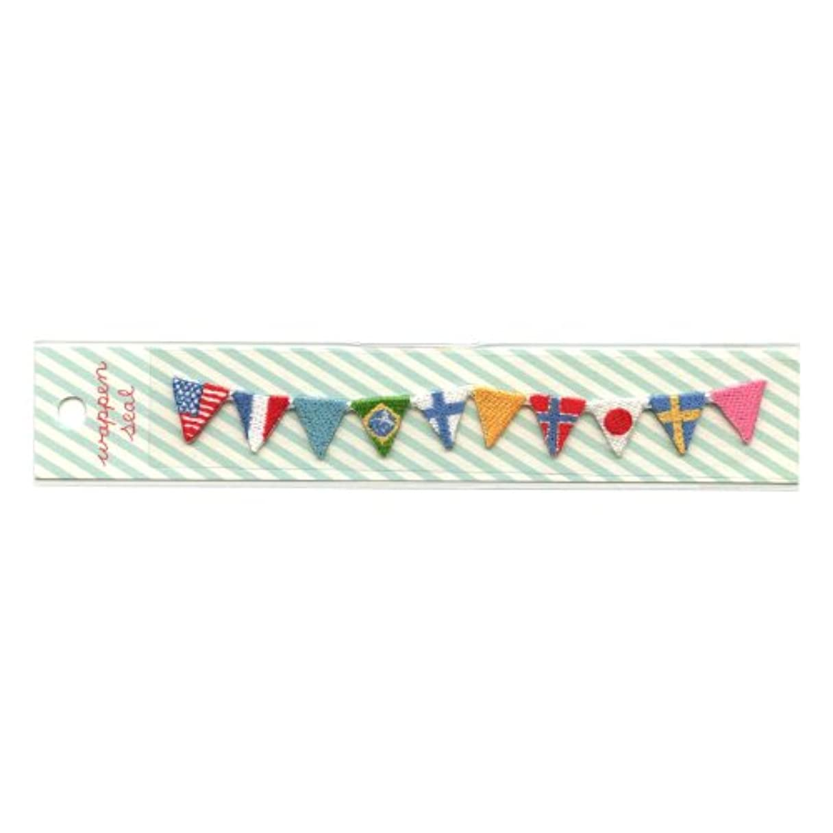 メモ大理石メンタルリュリュ 刺繍ワッペンシール 国旗 SWS−12