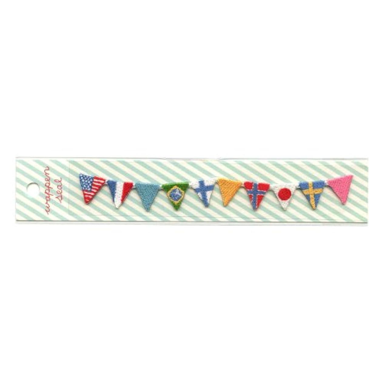 描写学校教育泥リュリュ 刺繍ワッペンシール 国旗 SWS−12