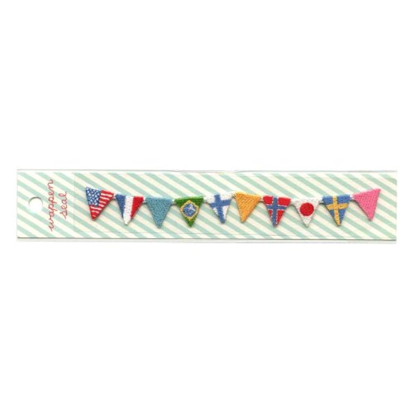矢安全性リブリュリュ 刺繍ワッペンシール 国旗 SWS−12