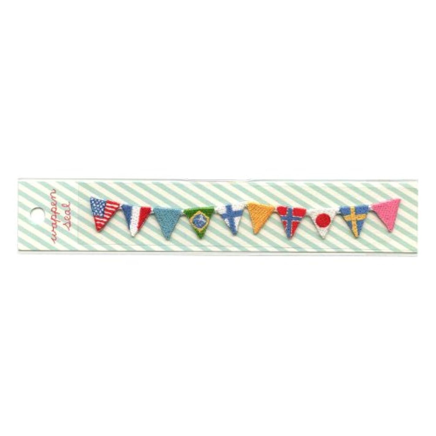 精算勢いチャネルリュリュ 刺繍ワッペンシール 国旗 SWS−12