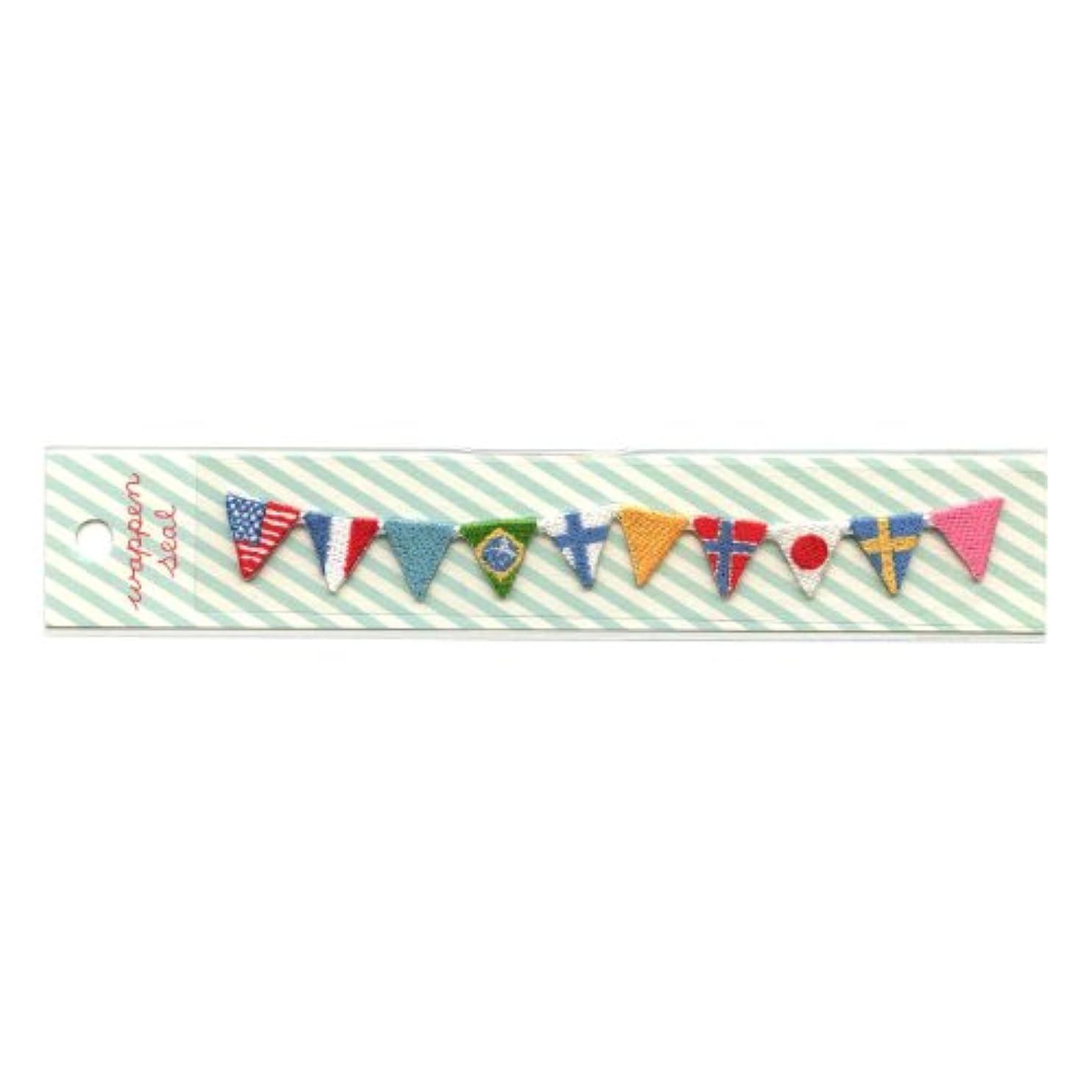 おもしろい現像ヒットリュリュ 刺繍ワッペンシール 国旗 SWS−12