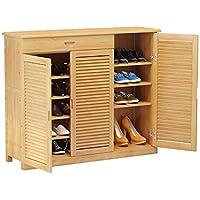 YANFEI 靴キャビネットマルチレイヤーシンプルな靴ラック引き出し付き120 * 34 * 100CM