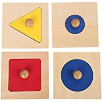 Montessori materials Insets Single shape puzzles toddler preschool toys