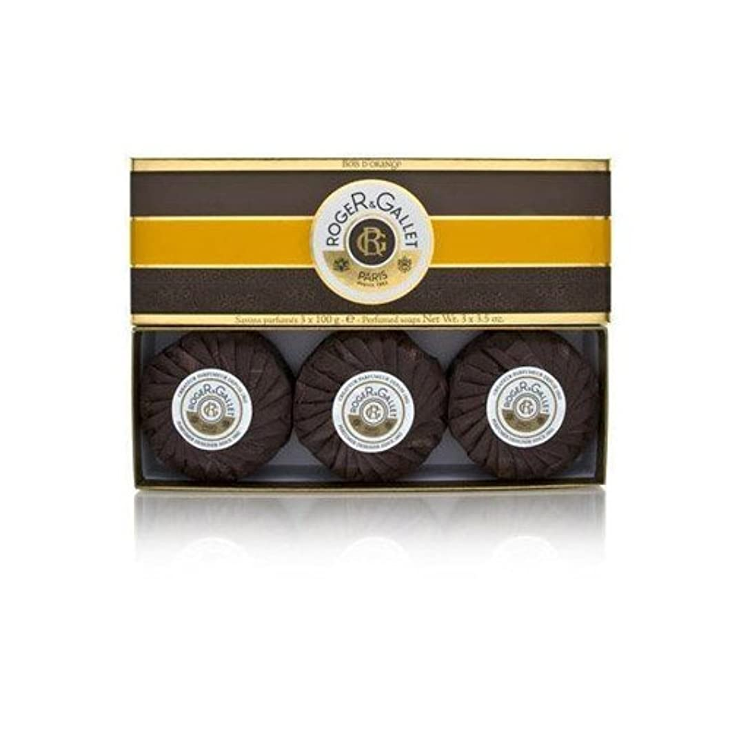 石油契約した高さロジェガレ ボワ ドランジュ (オレンジツリー) 香水石鹸3個セット ROGER&GALLET BOIS D'ORANGE PERFUMED SOAP [0161]