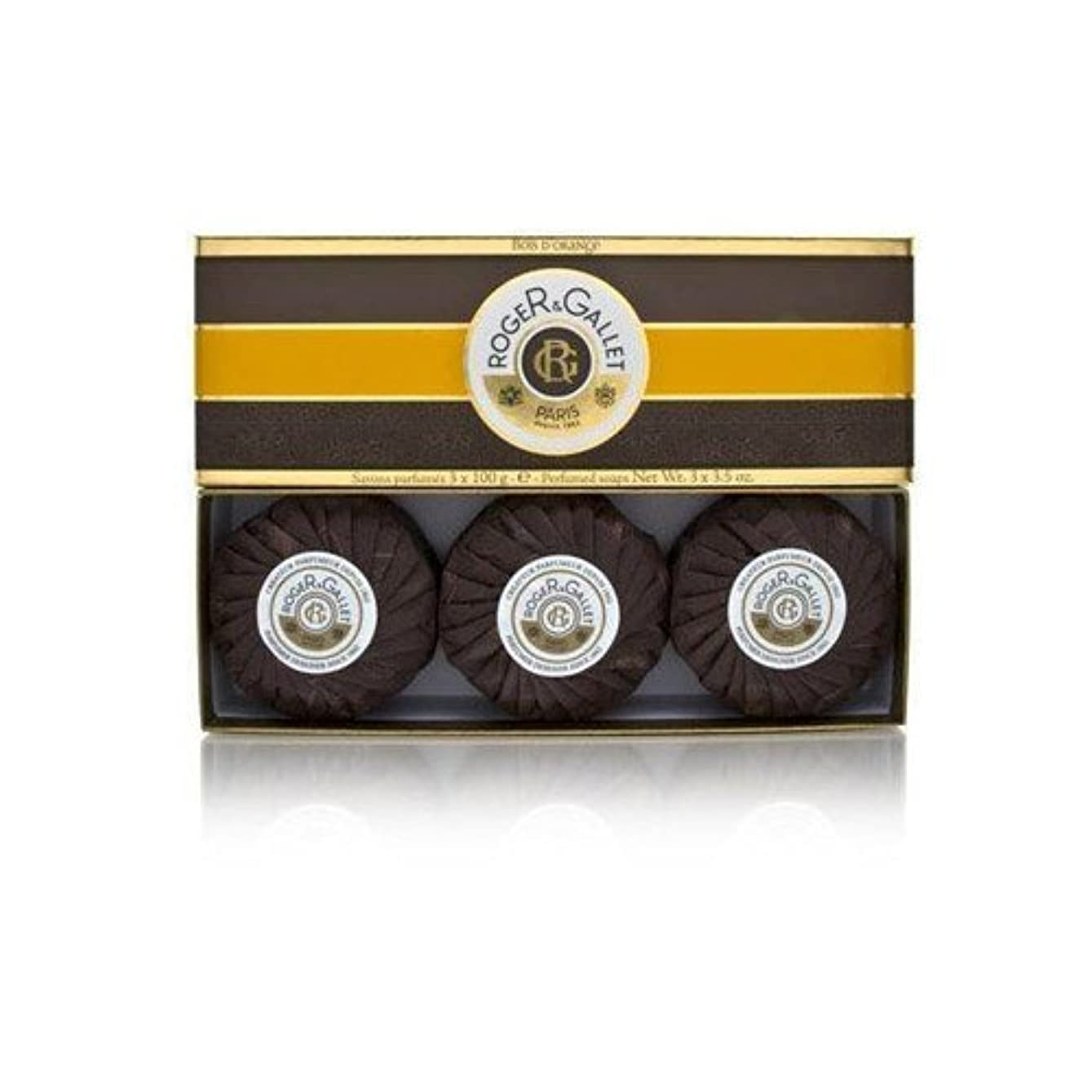 今日前文検出するロジェガレ ボワ ドランジュ (オレンジツリー) 香水石鹸3個セット ROGER&GALLET BOIS D'ORANGE PERFUMED SOAP [0161]