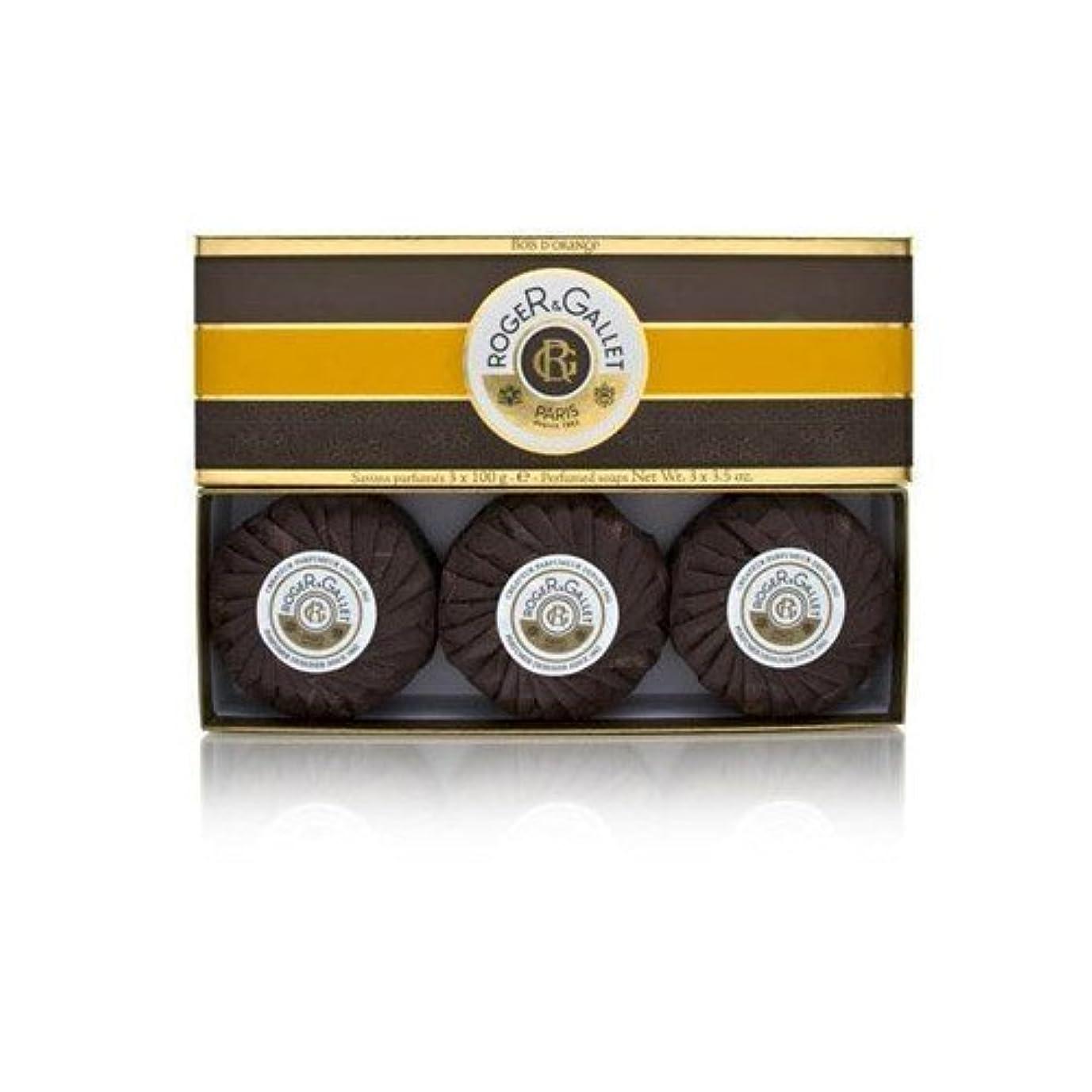 絶え間ない支払うラビリンスロジェガレ ボワ ドランジュ (オレンジツリー) 香水石鹸3個セット ROGER&GALLET BOIS D'ORANGE PERFUMED SOAP [0161]