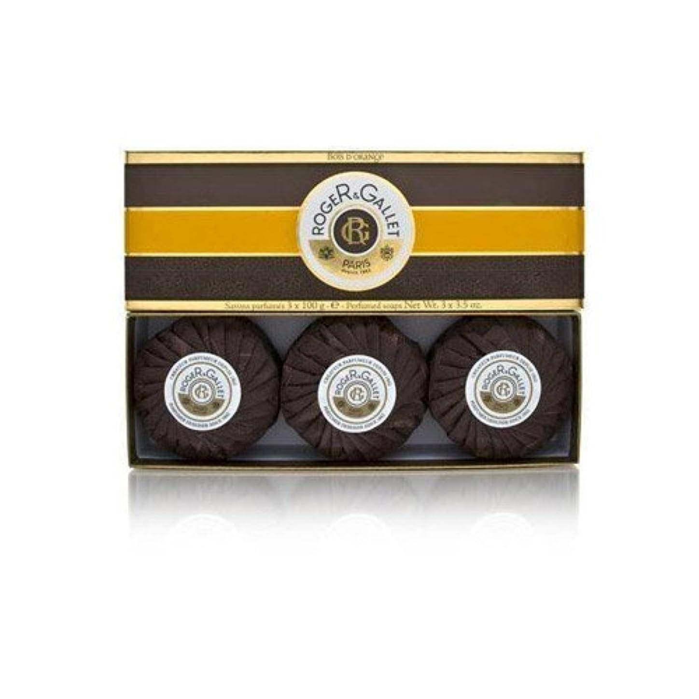 情熱的地殻まどろみのあるロジェガレ ボワ ドランジュ (オレンジツリー) 香水石鹸3個セット ROGER&GALLET BOIS D'ORANGE PERFUMED SOAP [0161]