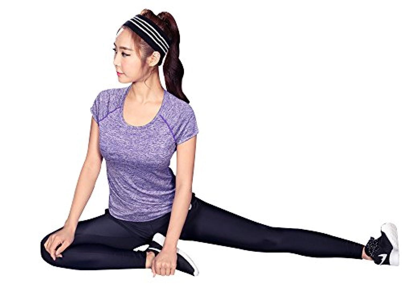 ソフトquik-dryingファブリックヨガTシャツTnakトップスの女性プラスサイズ